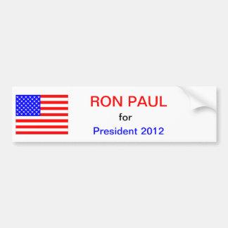 Ron Paul para el presidente 2012 Pegatina Para Coche