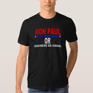RON PAUL PARA EL PRESIDENTE O EL NEGOCIO COMO DE CAMISETAS