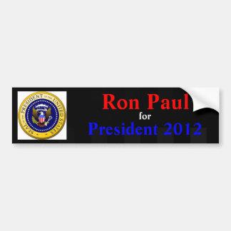 Ron Paul para el presidente pegatina para el parac Pegatina Para Coche