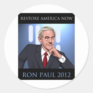 RON PAUL: UNA NUEVA ESPERANZA ETIQUETA REDONDA