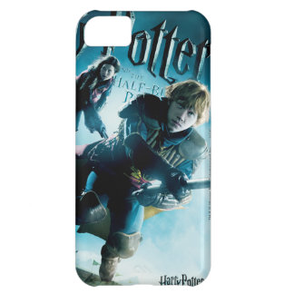 Ron y Ginny en las escobas 1 Carcasa Para iPhone 5C