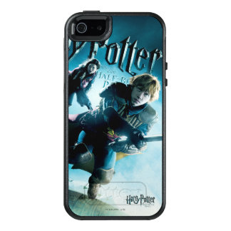 Ron y Ginny en las escobas 1 Funda Otterbox Para iPhone 5/5s/SE