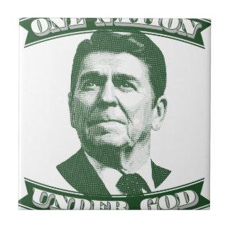 Ronald Reagan una nación debajo de dios Azulejo Cuadrado Pequeño