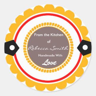Ronda de encargo de la cocina de la etiqueta del