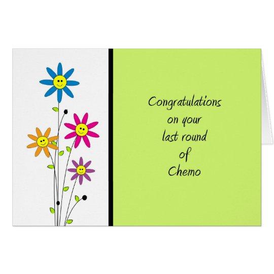 Ronda del último de la Chemo-Enhorabuena Tarjeta De Felicitación