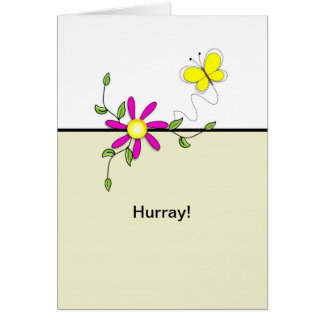 Ronda Hurray-Pasada de la flor de la Tarjeta