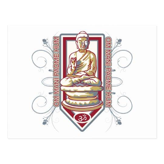 Ronquido de Buda OM Mani Padma Postal