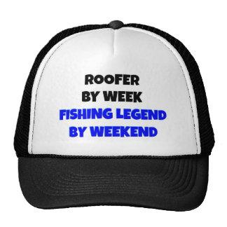 Roofer de la leyenda de la pesca gorro de camionero