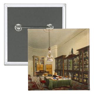 Room de la secretaria, casa de Apsley, por T. Boys Chapa Cuadrada 5 Cm
