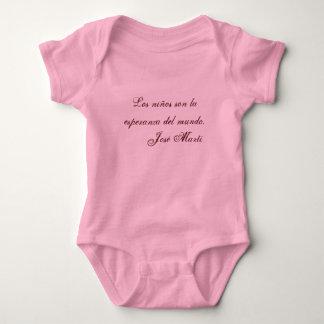Ropa 1 (rosa) del bebé de la poesía de Jose Marti Body Para Bebé