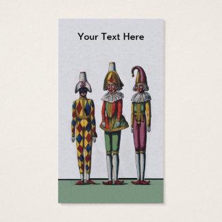 Ropa adornada de tres del vintage muñecas de tarjeta de visita