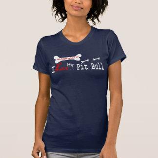 Ropa americana de Terrier de pitbull (amor de I) Camiseta