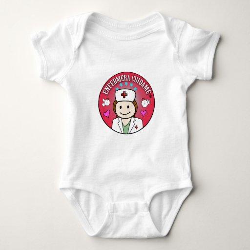 Ropa Bebé Enfermera Cuidame Plis Castaña Camiseta