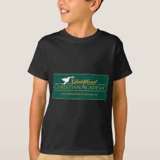 Ropa cristiana verde del logotipo de la academia camiseta