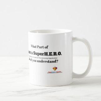 Ropa de la central del empresario taza de café