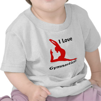 Ropa de la gimnasia camiseta