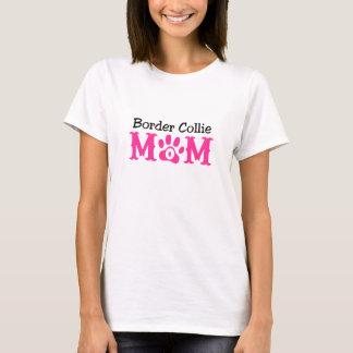 Ropa de la mamá del border collie camiseta