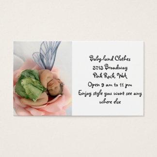 Ropa de la tierra del bebé tarjeta de negocios