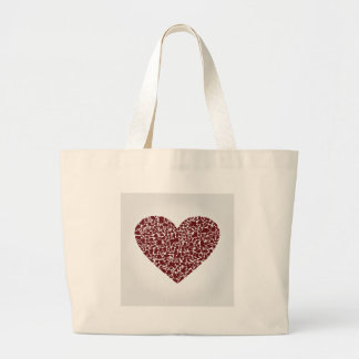 Ropa del corazón bolso de tela gigante