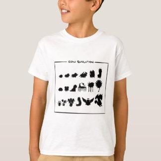 Ropa del diseño de la evolución de la vaca camiseta
