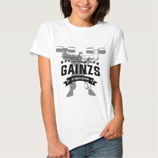 Ropa del entrenamiento de la aptitud de Gainz Camisetas