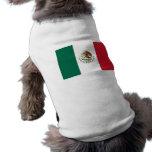 Ropa del mascota con la bandera de México Camiseta De Perro