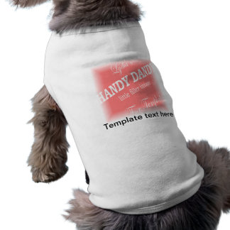 Ropa del mascota de la plantilla - guarde camiseta sin mangas para perro