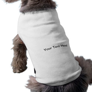 Ropa del mascota de la plantilla camiseta sin mangas para perro