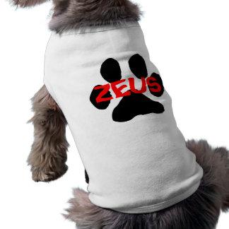 Ropa del mascota del perrito de Zeus (camisa modif Camiseta Sin Mangas Para Perro