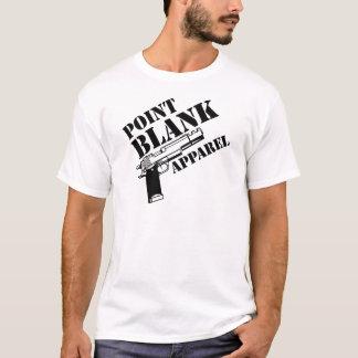 Ropa en blanco T del punto Camiseta