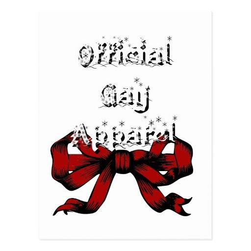 Ropa gay oficial postal