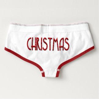 Ropa interior de las Felices Navidad