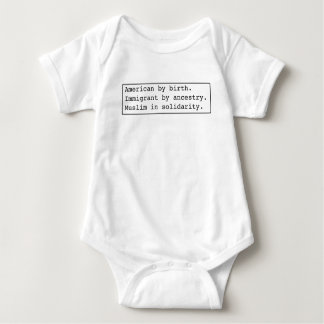 ropa ligera de la Musulmán-en-solidaridad Body Para Bebé