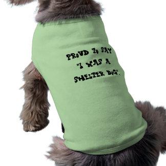 Ropa orgullosa del mascota del perro del refugio camiseta sin mangas para perro
