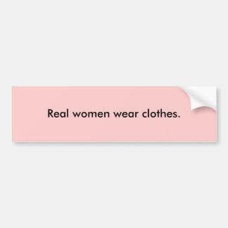 Ropa real de la ropa de mujer pegatina para coche