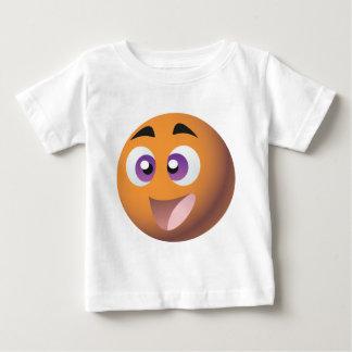 Ropa sonriente de la mascota de las promociones camiseta de bebé