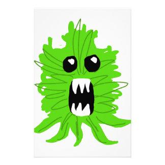 Ropa verde del bebé del monstruo papelería