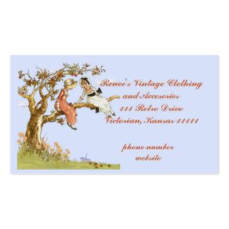 Ropa vintage, plantilla con los niños del vintage tarjetas de visita