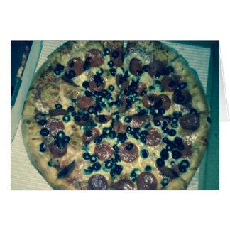Ropa y artículos de la pizza del Grunge Tarjeta De Felicitación