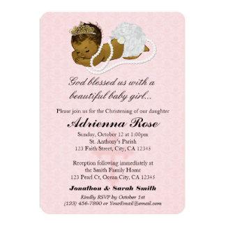 ROSA 181 de las invitaciones del bautizo del Invitación 12,7 X 17,8 Cm