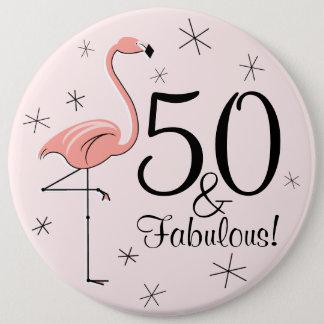 """Rosa """"50 del flamenco y fabulosos!"""" botón"""
