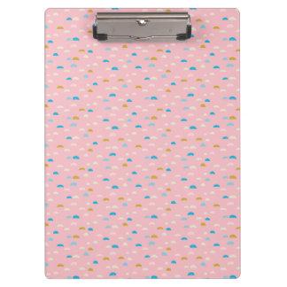 Rosa abstracto de la media luna modelado carpeta de pinza