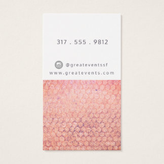 Rosa aherrumbrado y tarjeta de visita punteada