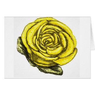 Rosa amarillo de la amistad tarjeta de felicitación