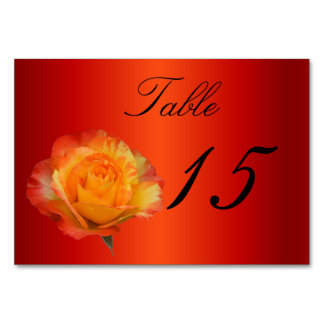 Rosa amarillo llameante exquisito del naranja N de