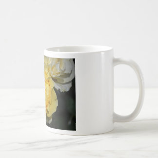 Rosa amarillo mojado taza de café