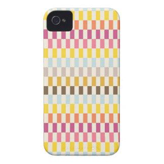 Rosa amarillo-naranja azul de las tejas coloridas iPhone 4 carcasas