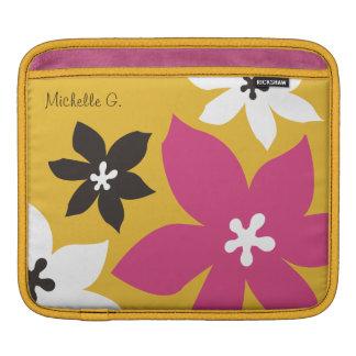 Rosa amarillo personalizado estampado de flores mo funda para iPads