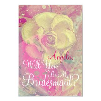 Rosa amarillo usted será mi tarjeta de la dama de