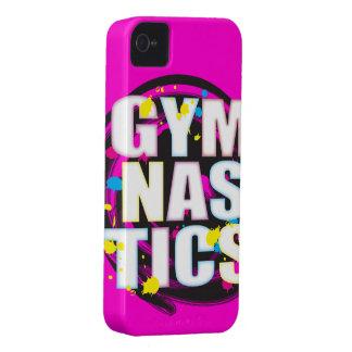 Rosa artístico de la pintura de la gimnasia iPhone 4 Case-Mate protectores